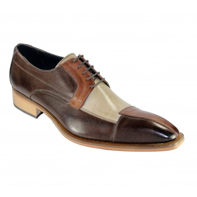 Duca by Matiste Torino Brown Tri Tone Shoes Image