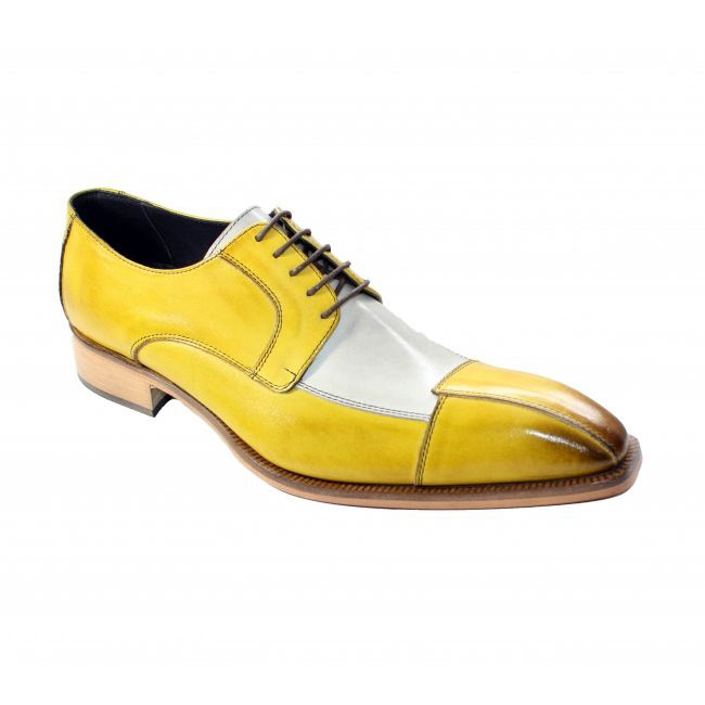 Duca by Matiste Torino Yellow Combo Shoes Image