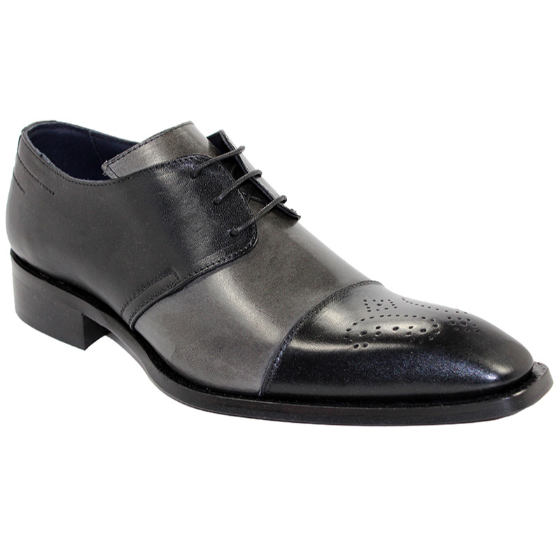 Duca by Matiste Ancona Black/Grey Shoes Image