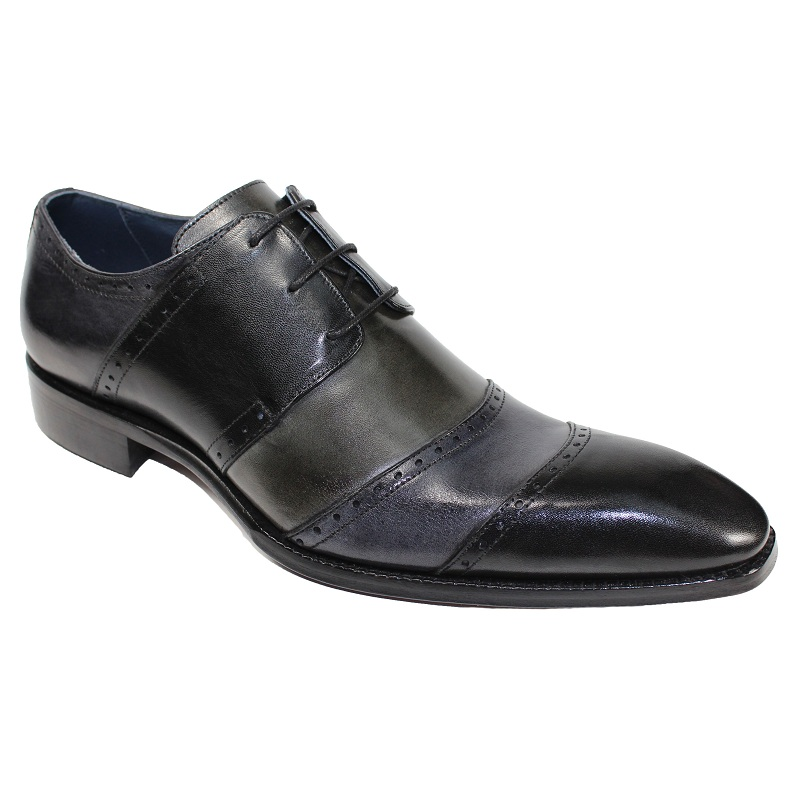 Duca by Matiste Asti Cap Toe Shoes Black Combo Image