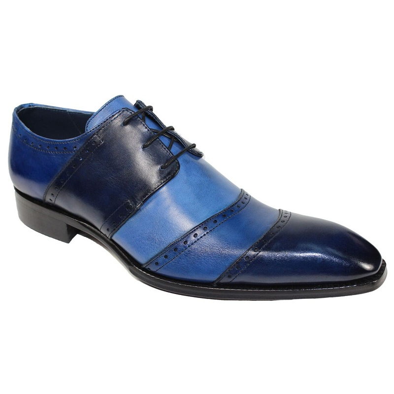 Duca by Matiste Asti Cap Toe Shoes Blue Combo Image