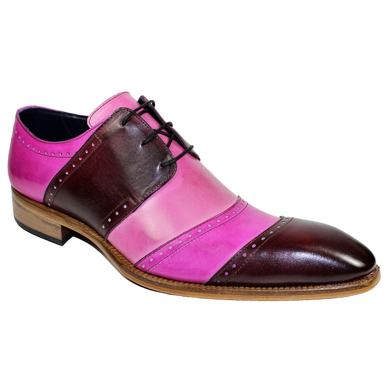 Duca by Matiste Asti Cap Toe Shoes Bordo Combo Image