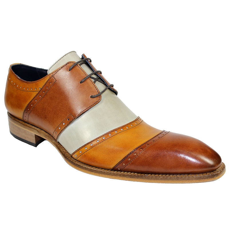 Duca by Matiste Asti Cap Toe Shoes Brandy Combo Image