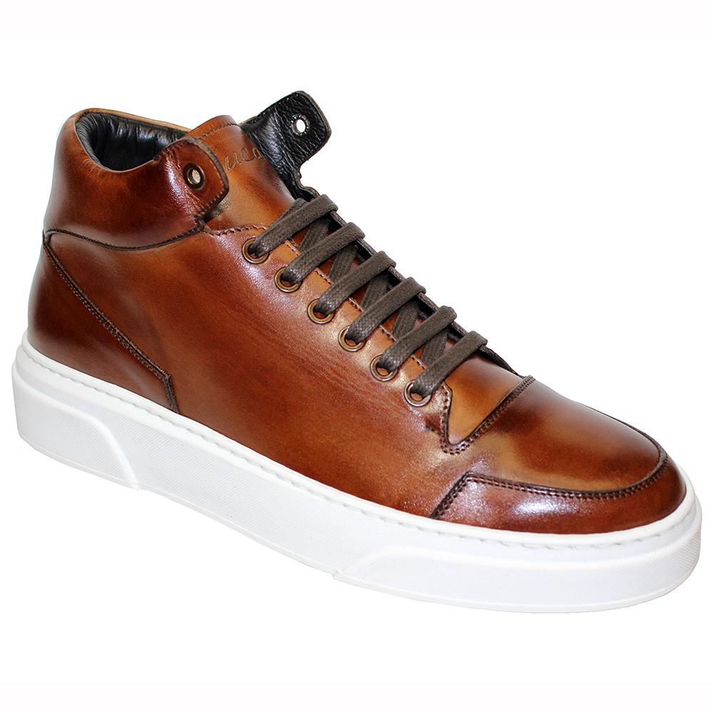 Duca by Matiste Balzano Leather Sneakers Brandy Image