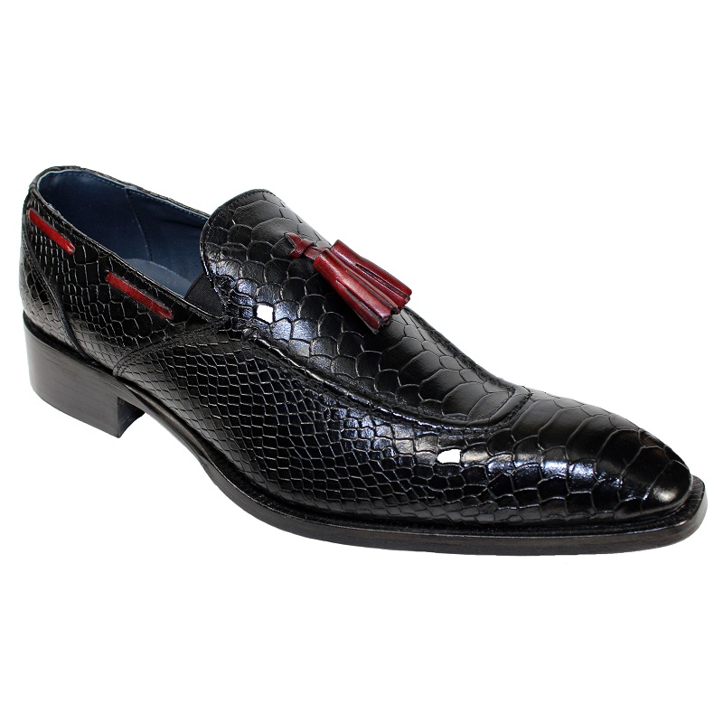 Duca by Matiste Cassino Slip On Shoes Black Antique Red Image