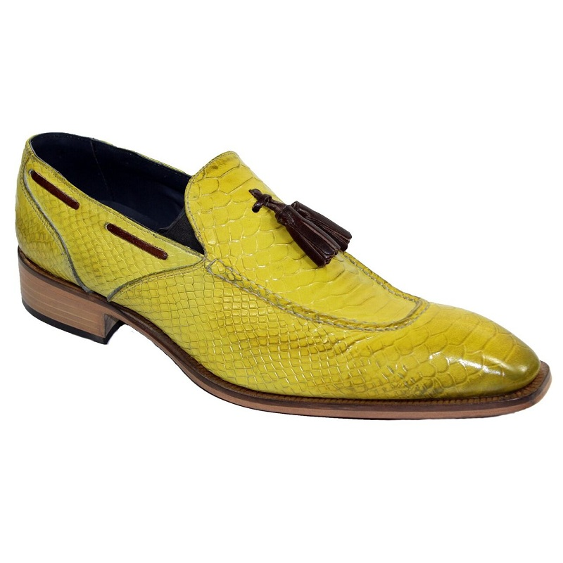 Duca by Matiste Cassino Slip On Shoes Yellow Brown Image