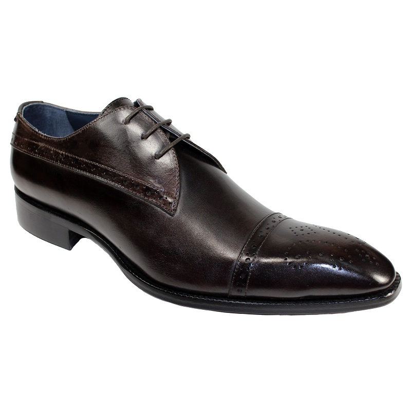 Duca by Matiste Cecina Cap Toe Shoes Chocolate Image