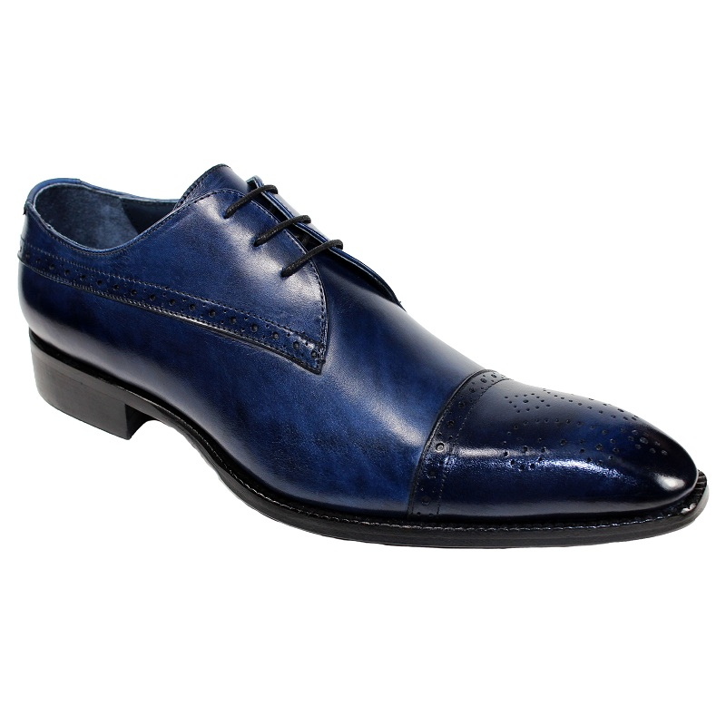 Duca by Matiste Cecina Cap Toe Shoes Navy Image
