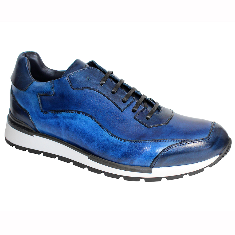 Duca by Matiste Cento Leather Sneakers Blue Combo Image