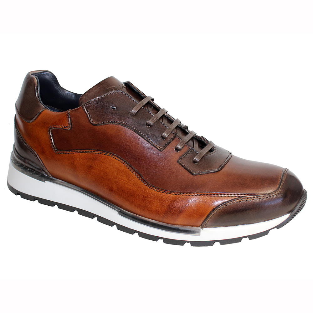 Duca by Matiste Cento Leather Sneakers Brown Combo Image