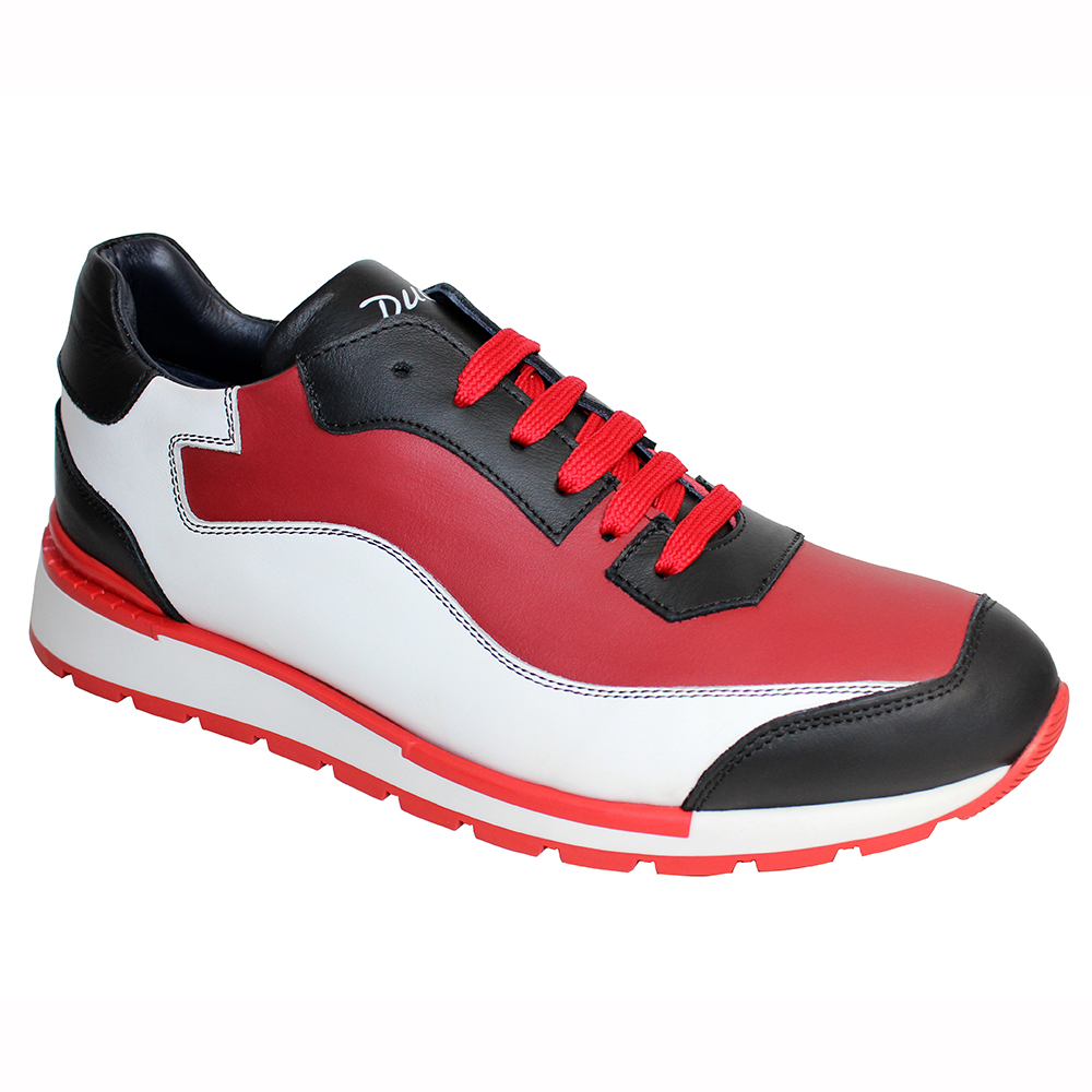 Duca by Matiste Cento Leather Sneakers Red Combo Image