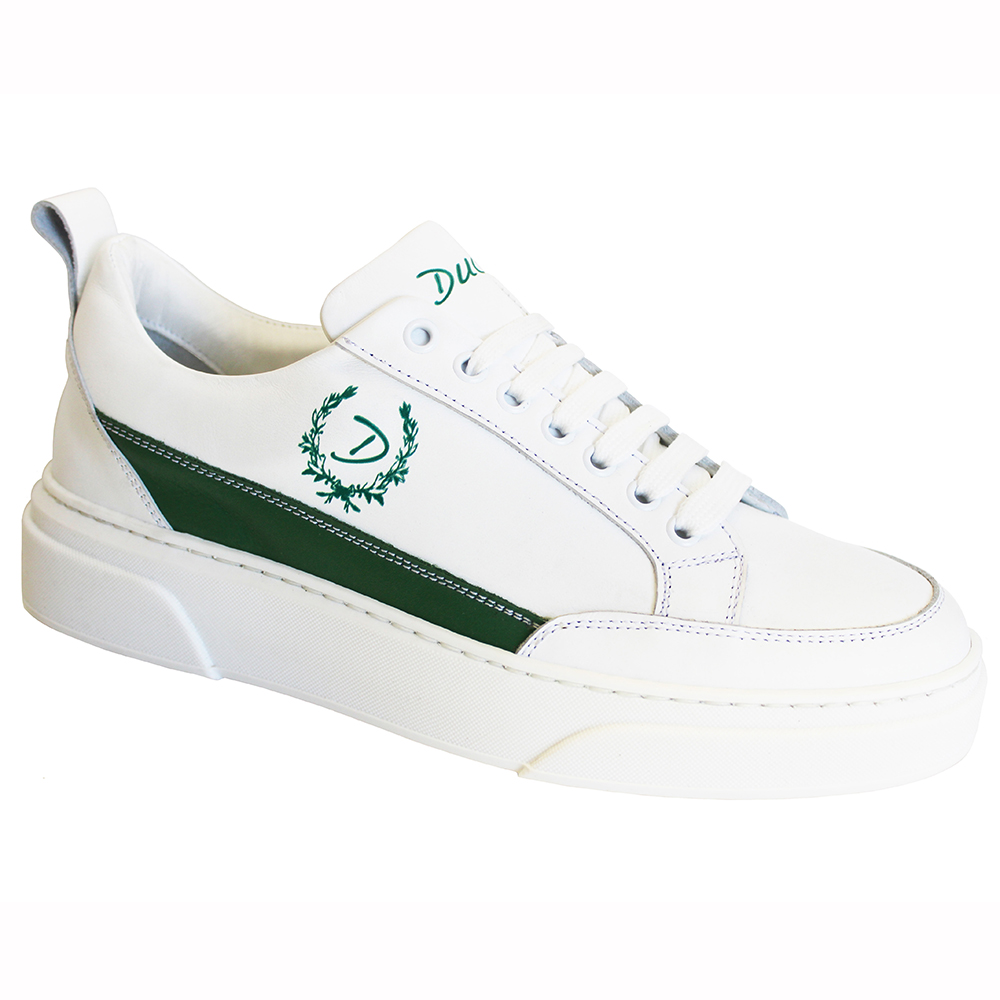 Duca by Matiste Fabro Leather Sneakers White / Green Image
