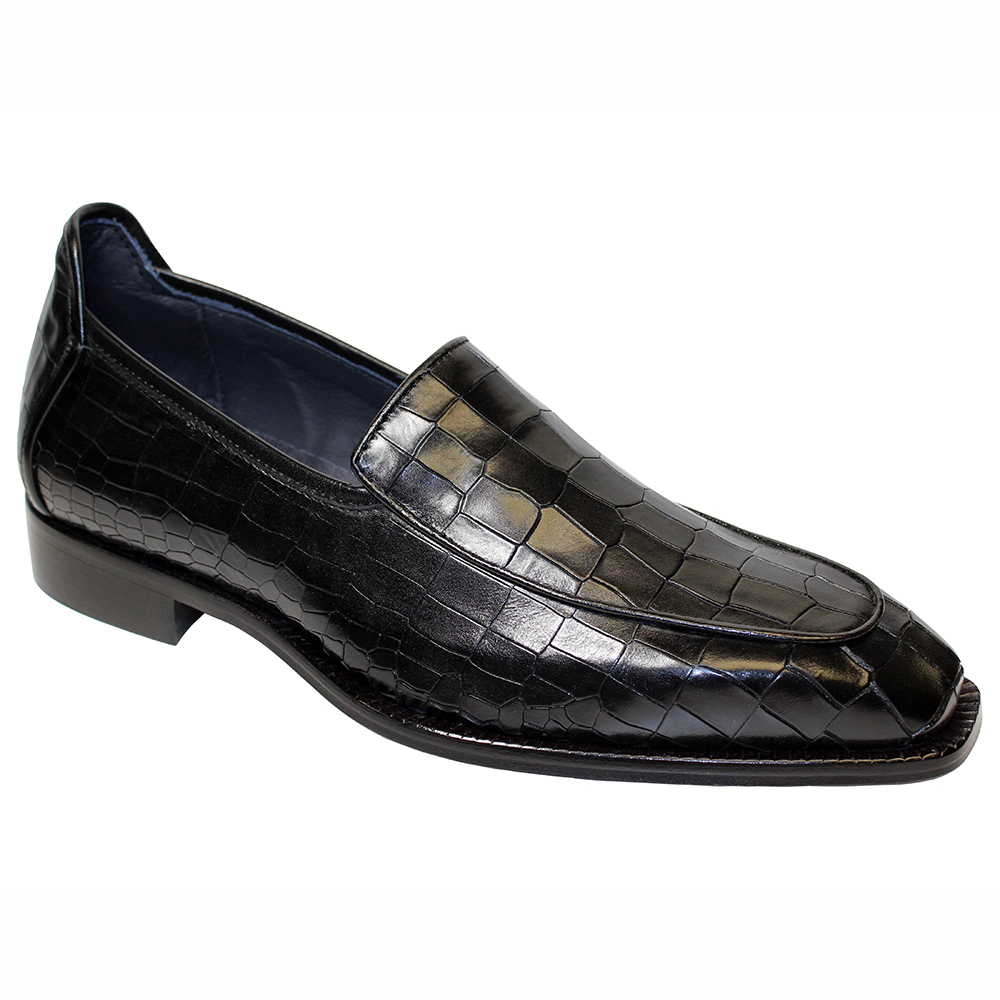 Duca by Matiste Fano Croc Print Shoes Black Image