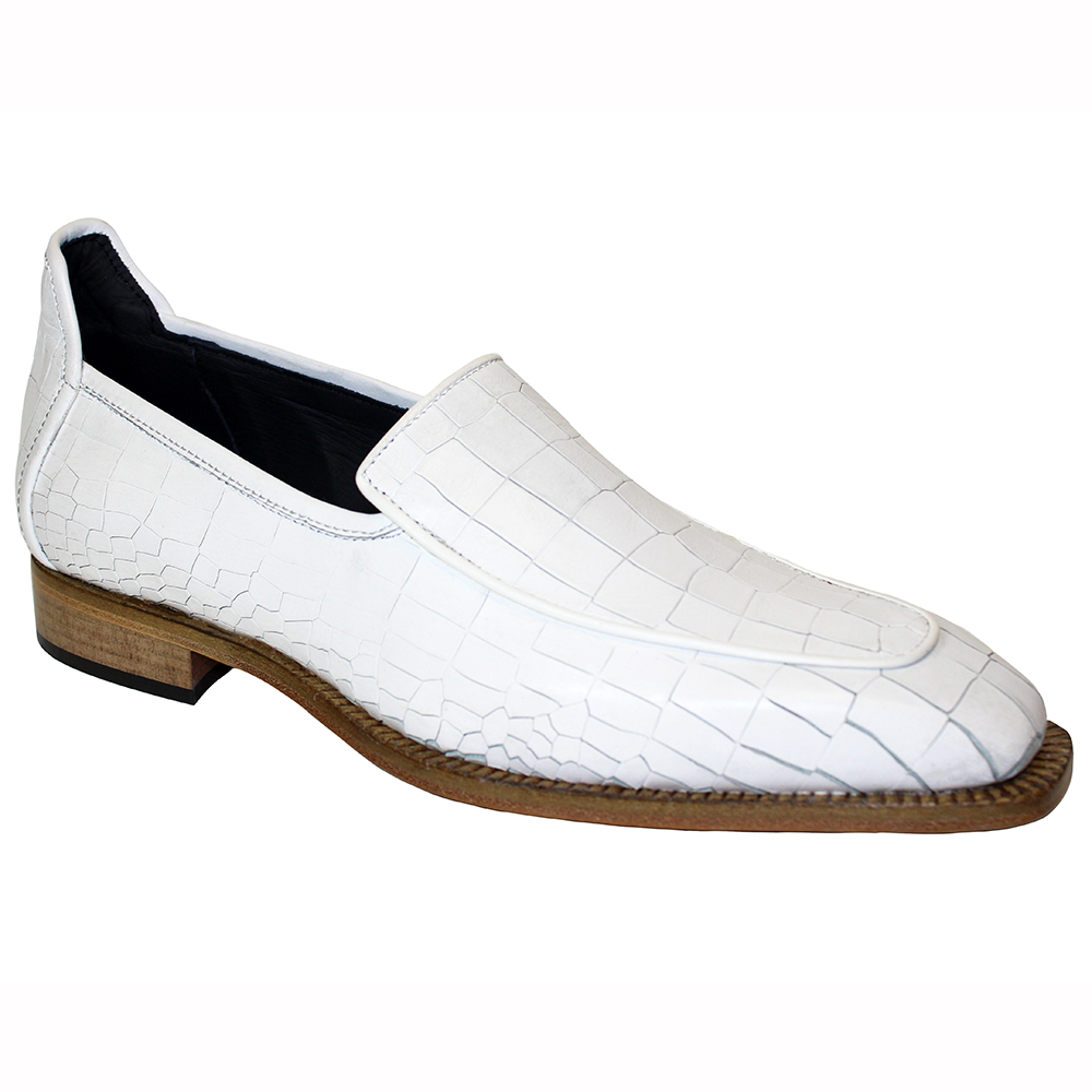Duca by Matiste Fano Croc Print Shoes White Image