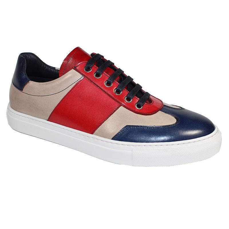 Duca by Matiste Fermo Calfskin Sneakers Blue Combo Image