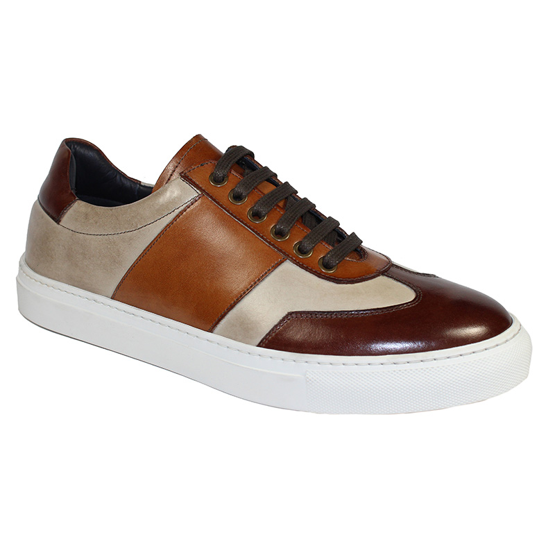 Duca by Matiste Fermo Calfskin Sneakers Brown Combo Image