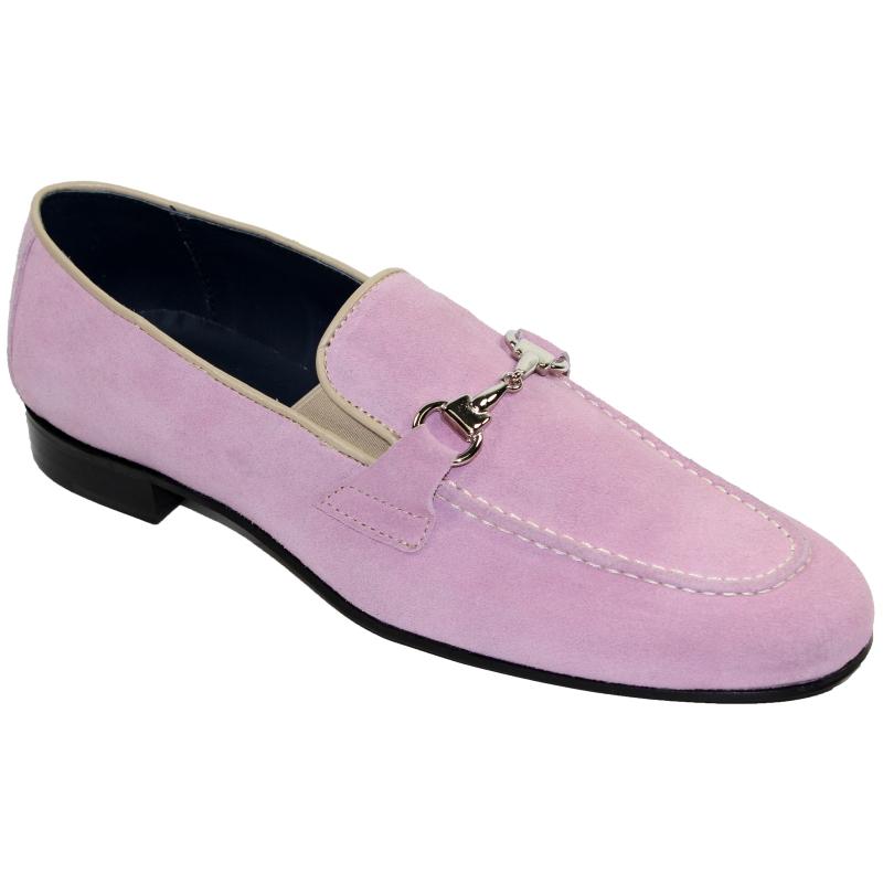 Duca by Matiste Forli Suede Bit Loafers Pink Image