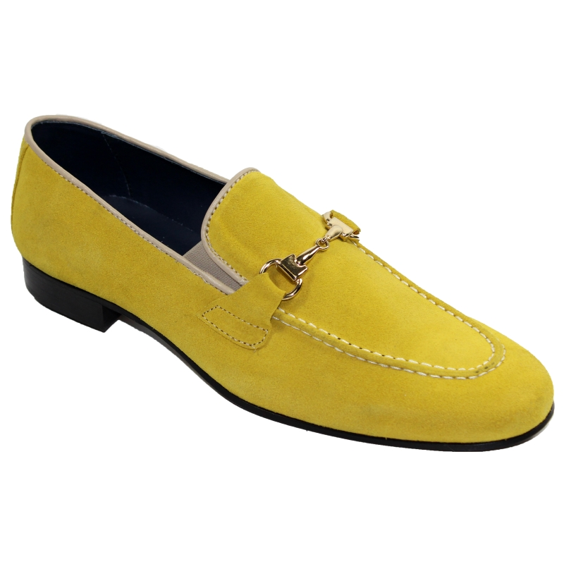Duca by Matiste Forli Suede Bit Loafers Yellow Image