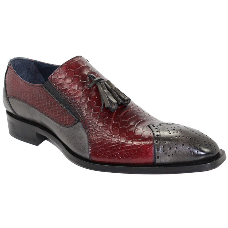 Duca by Matiste Genoa Grey/Wine Shoes Image