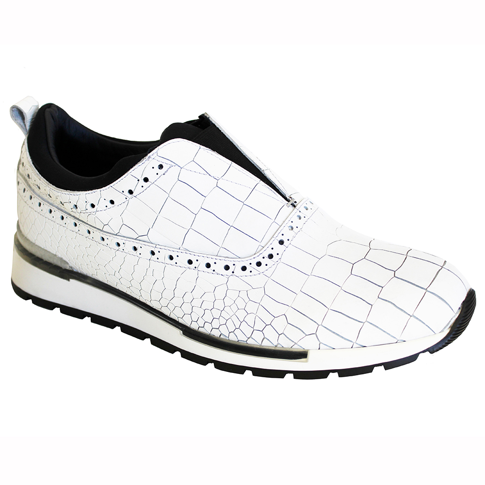 Duca by Matiste Imola Croc Print Sneakers White Image