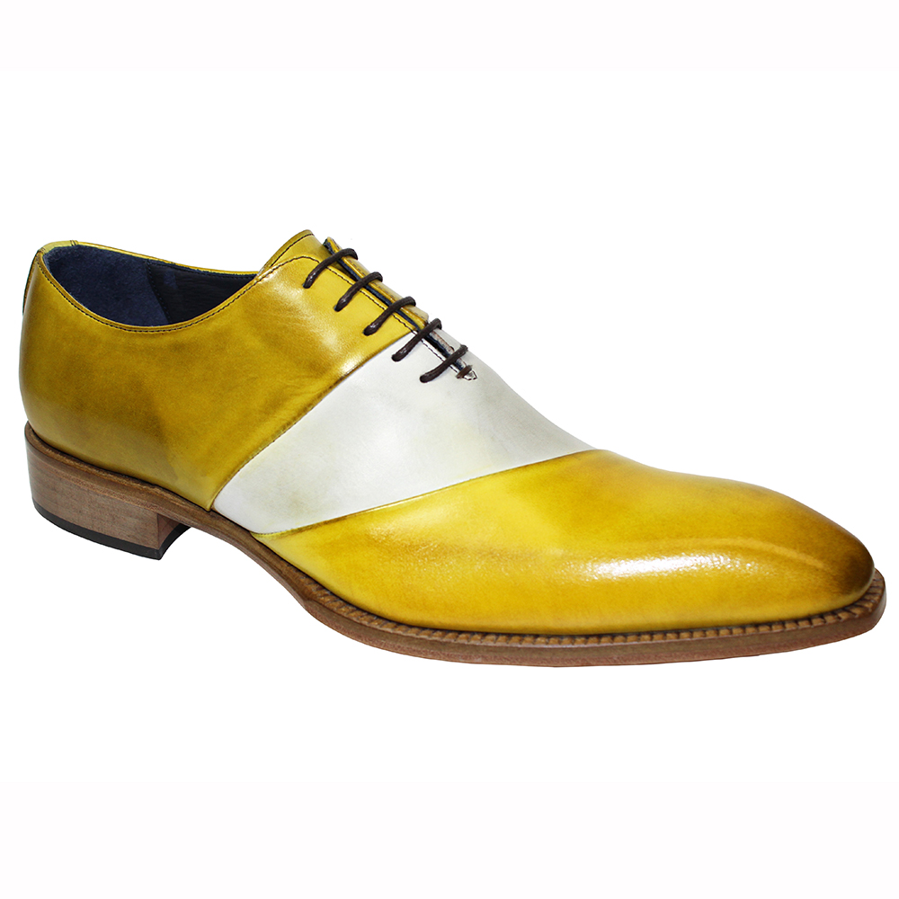 Duca by Matiste Livorno Leather Shoes Yellow Combo Image