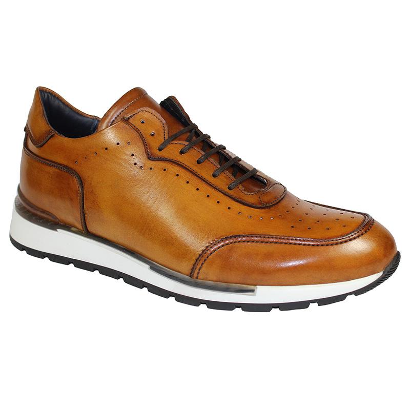 Duca by Matiste Marini Calfskin Sneakers Cognac Image