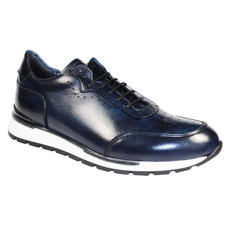 Duca by Matiste Marini Calfskin Sneakers Navy Image