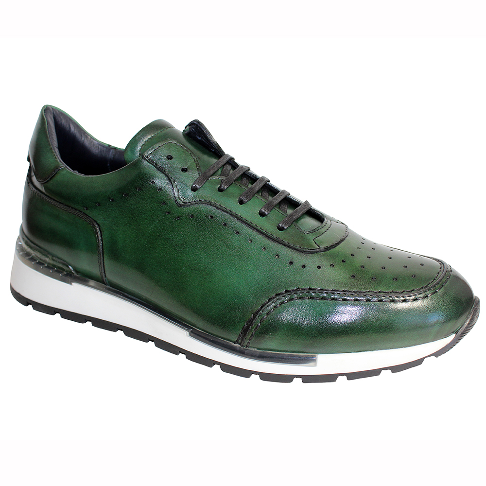 Duca by Matiste Marini Leather Sneakers Green Image