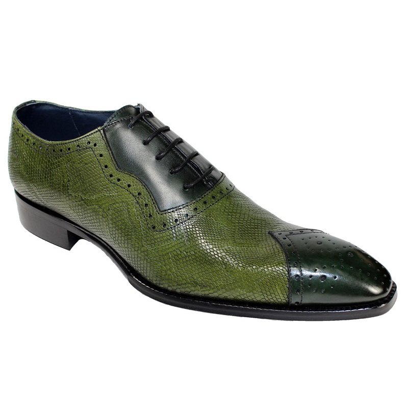 Duca by Matiste Marino Cap Toe Shoes Green / Olive Image