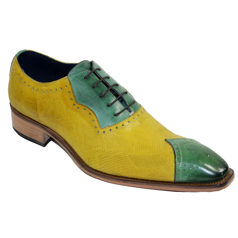 Duca by Matiste Marino Oxfords Green / Yellow Image