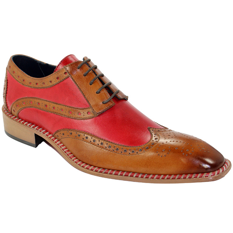 Duca by Matiste Napoli Camel/Red Shoes Image