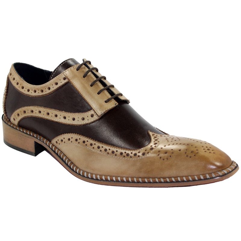 Duca by Matiste Napoli Taupe/Dark Brown Shoes Image