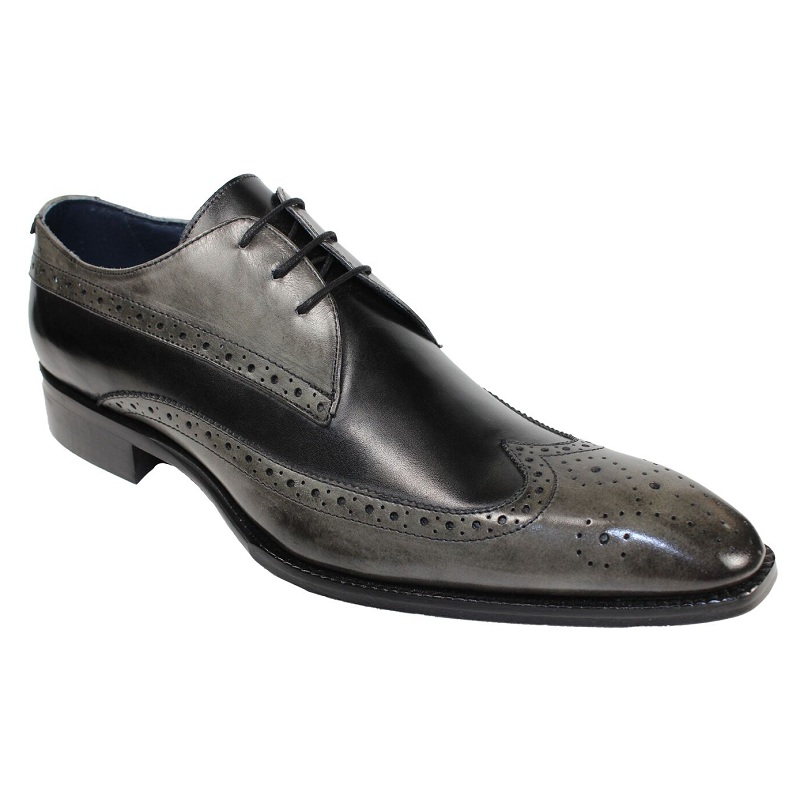Duca by Matiste Ostia Lace Up Shoes Grey / Black Image