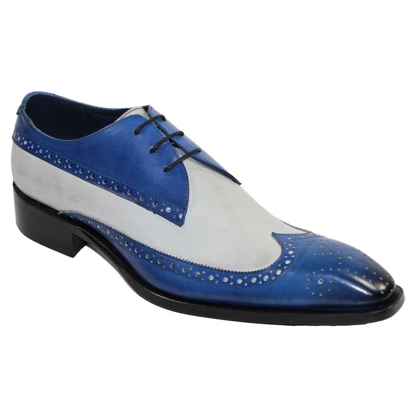 Duca by Matiste Ostia Wingtip Shoes Blue / Bone Image