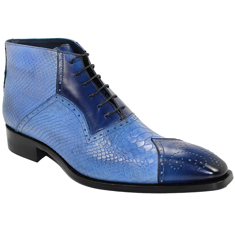 Duca by Matiste Parma Blue/Light Blue Boots Image