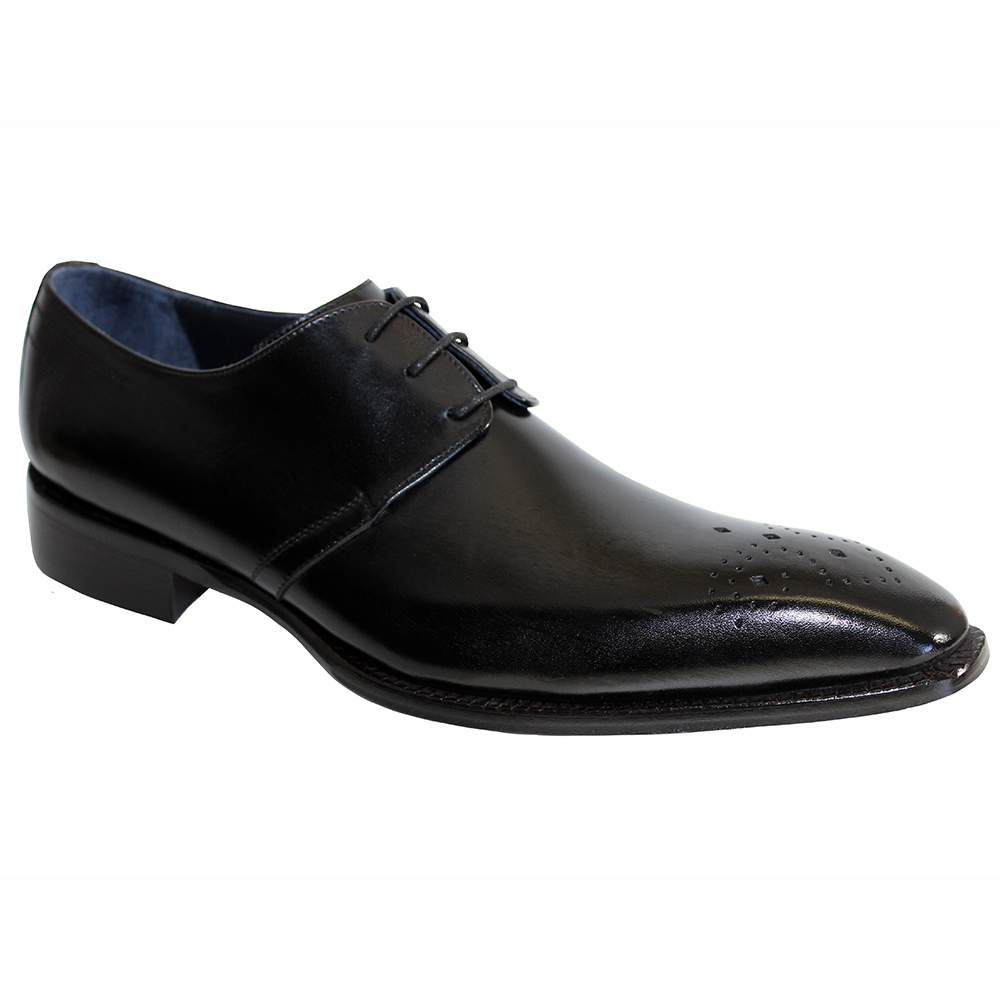 Duca by Matiste Pavona Leather Shoes Black Image