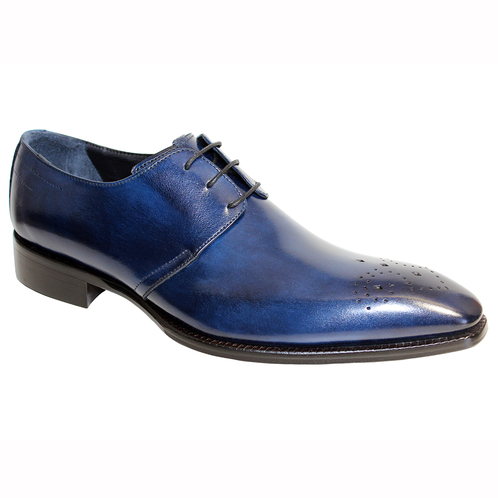 Duca by Matiste Pavona Leather Shoes Navy Image