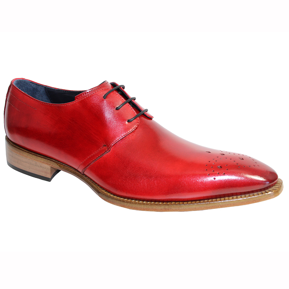 Duca by Matiste Pavona Leather Shoes Red Image