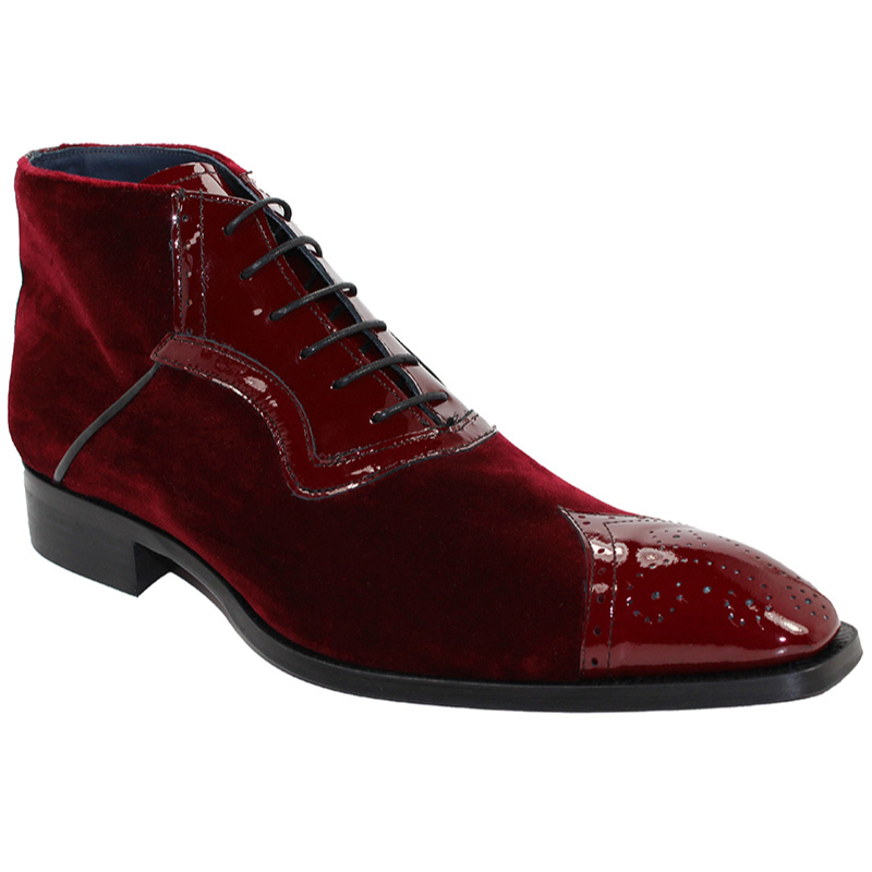 Duca by Matiste Perugia Burgundy Boots Image
