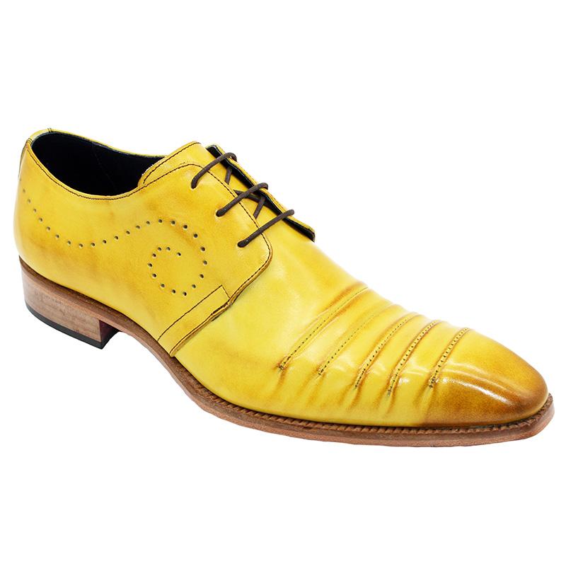 Duca by Matiste Pesaro Calfskin Shoes Yellow Image