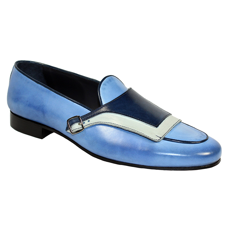 Duca by Matiste Potenza Calfskin Shoes Blue Combo Image