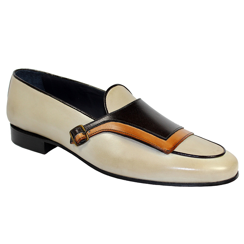 Duca by Matiste Potenza Calfskin Shoes Brown Combo Image