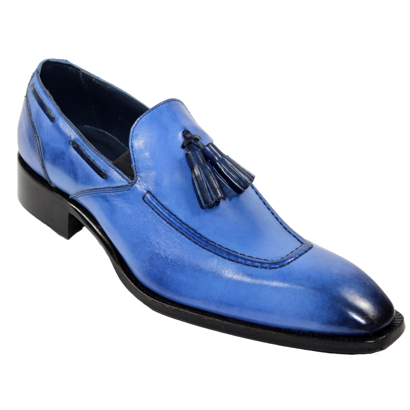 Duca by Matiste Rieti Tassel Loafers Light Blue Image