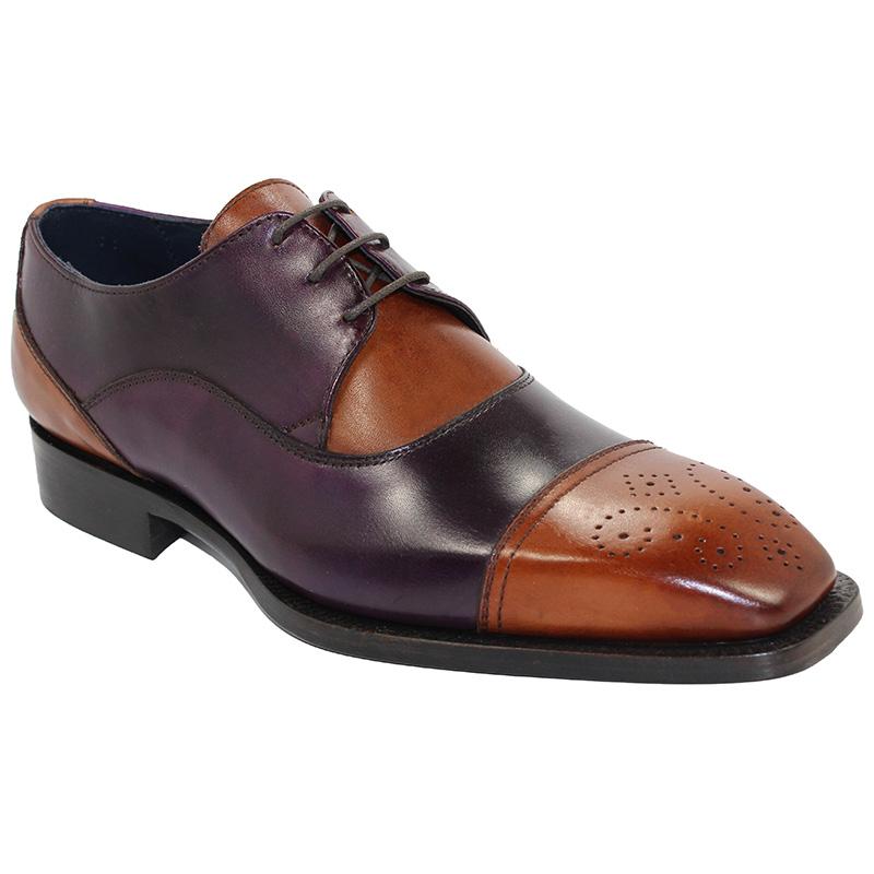 Duca by Matiste Roma Cognac/Purple Shoes Image