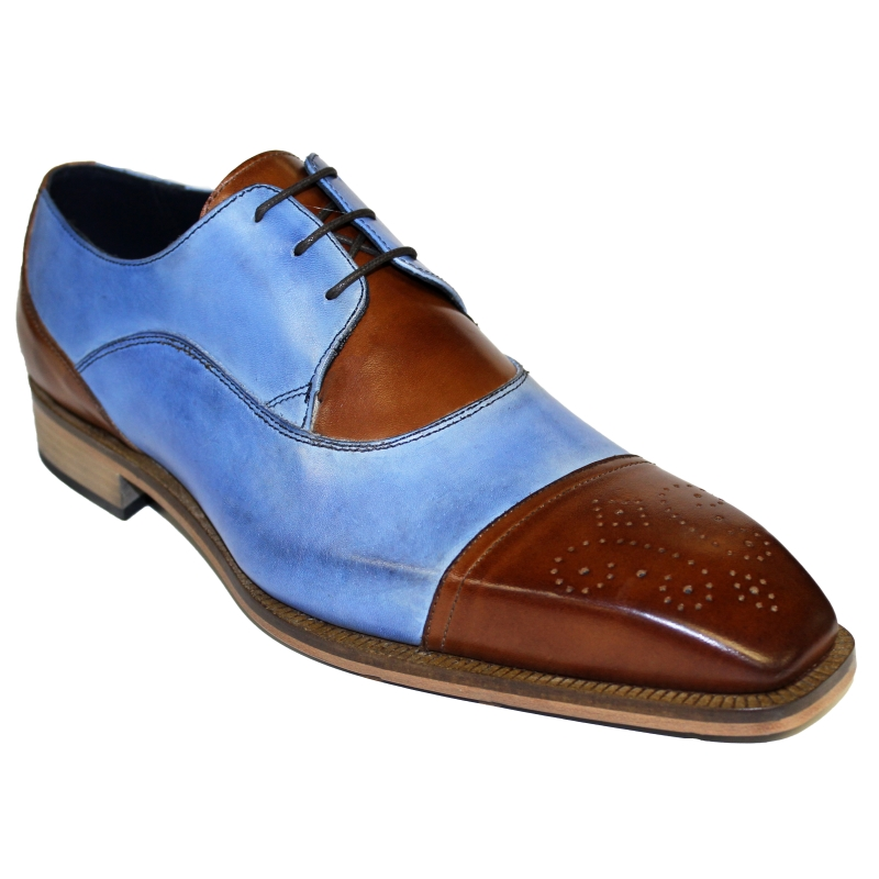 Duca by Matiste Roma Shoes Brandy / Light Blue Image