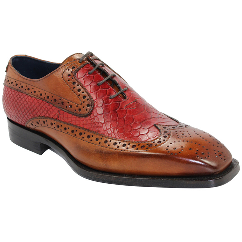 Duca by Matiste Salerno Cognac/Red Shoes Image