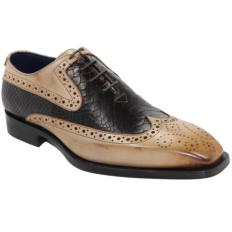 Duca by Matiste Salerno Taupe/Dark Brown Shoes Image
