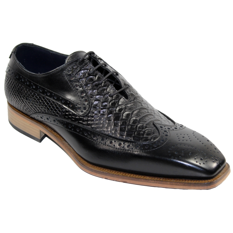 Duca by Matiste Salerno Wingtip Shoes Black Image