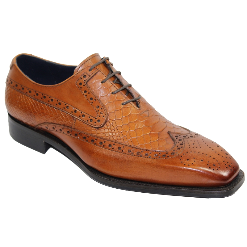 Duca by Matiste Salerno Wingtip Shoes Cognac Image