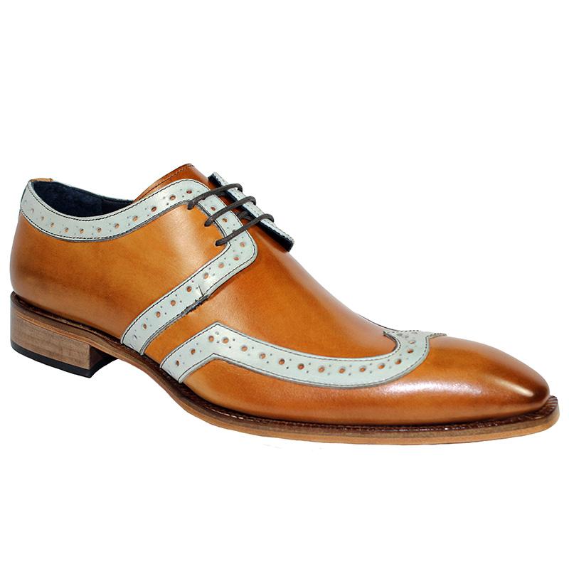 Duca by Matiste Savona Calfskin Shoes Cognac Bone Image